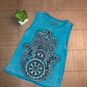 💙 BLUE HAMSA HAND TANK TOP SZ MEDIUM 💙